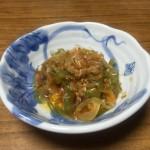 ピーマンと人参、玉ねぎを甘辛く炊いてみました!